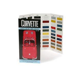1963-1972 Corvette Paint Color Chips