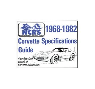 1968-1982 NCRS Pocket Specifications Guide - New Edition