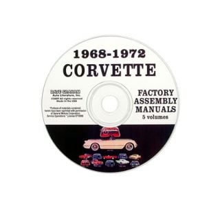 1968-1972 Corvette Assembly Manual on CD