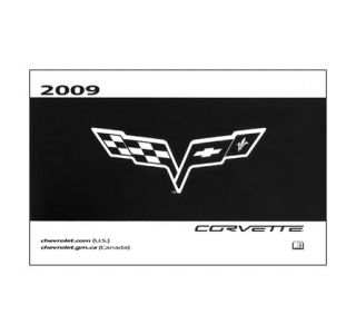 2009 Corvette Owners Manual