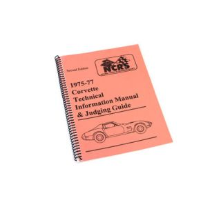 1975-1977 Corvette NCRS Judging Manual