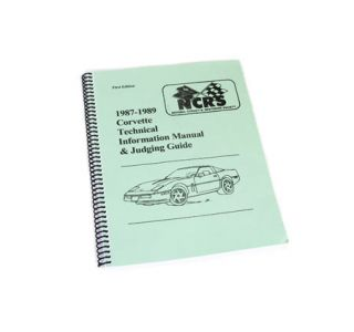 1987-1989 Corvette NCRS Judging Manual