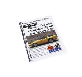 1990-1991 Corvette NCRS Judging Manual (Expanded Edition)