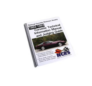 1992-1993 Corvette NCRS Judging Manual (Expanded Edition)