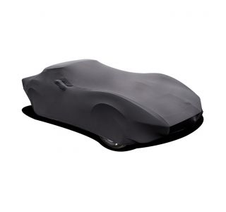68-82 Black Stretch Satin Indoor Car Cover