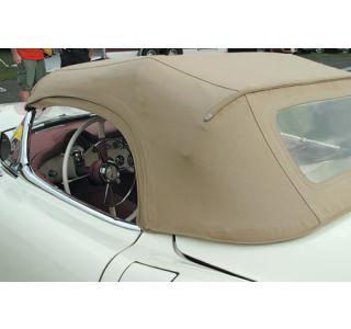 1955 Corvette Convertible Top Vinyl Kit - White (Dated)