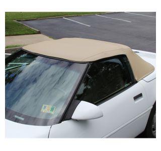 1986-1993 Corvette Convertible Top Vinyl - Tan