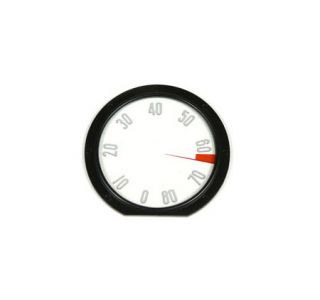 1958 Corvette Tachometer Face w/Numbers (8000 Rpm)