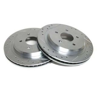 88-96 Power Stop Drilled & Slotted Rotors - Rear (Default)