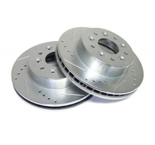 65-82 Power Stop Drilled & Slotted Front Brake Rotors