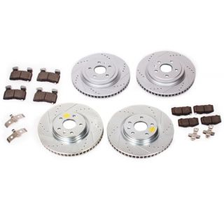 14-18 J55 (Z51) Power Stop Drilled & Slotted Rotors w/Z26 Brake Pads (Full-Cast Rotors)