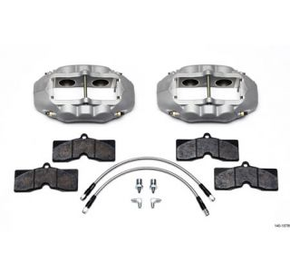 1965-1982 Corvette D8-4 Wilwood Aluminum Front Brake Kit (Natural)