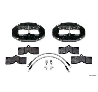 1965-1982 Corvette D8-4 Wilwood Aluminum Front Brake Kit (Black)