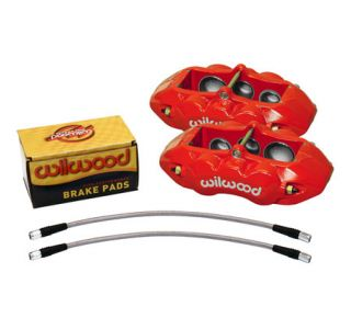 65-82 D8-6 Wilwood (6-Piston) Front Brake Kit (Red) (Default)