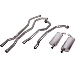 "73 350 L82 Manual 2-2 1/2""Exhaust System w/Round Mufflers"
