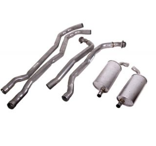 "73 350 L82 Auto 2-2 1/2"" Exhaust System w/Round Mufflers"