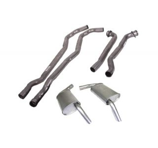 "74 454 Auto 2 1/2"" Exhaust System w/""Tuck-Under"" Oval Mufflers"