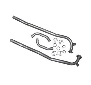 """1957-1962 Corvette 2"""" Front Exhaust Pipes w/Crossover Pipe"""