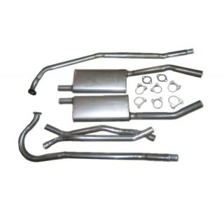 55 V8 Exhaust System w/Mufflers