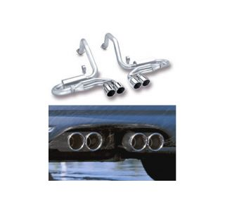 "1997-2004 Corvette Borla ""Stinger"" Exhaust System - Quad 4"" Round Tips"