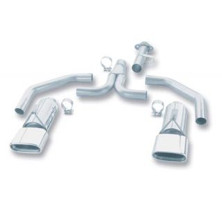"86-91 Borla ""Stinger"" Exhaust System - Rectangular Tips"