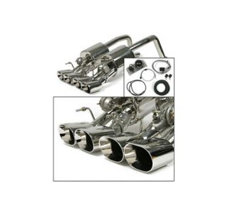 """2005-2008 Corvette w/o NPP BBE Fusion Exhaust System - 4.5"""" Oval Tips"""