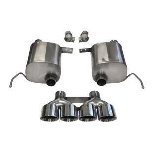 "14-18 CORSA Sport Valve-Back Exhaust System w/Quad 4.5"" Polished Tips (Default)"