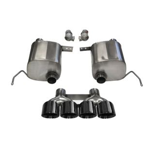 "14-18 CORSA Sport Valve-Back Exhaust System w/Quad 4.5"" Black Tips (Default)"