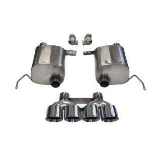 "14-18 CORSA Extreme Valve-Back Exhaust System w/Quad 4.5"" Polished Tips (Default)"