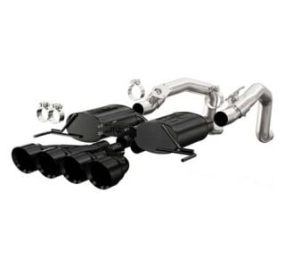 "14-18 Magnaflow Axle-Back Exhaust System w/4.5"" Quad Tips (Black) (Default)"