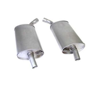 "63-67 2 1/2"" Reproduction Oval Mufflers (Default)"