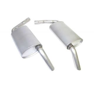 "74 2"" Low Profile Oval Mufflers"