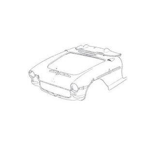1956-1957 Corvette Pre-Assembled Press Molded Front End