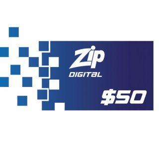 $50 Zip Gift Card - Digital Version