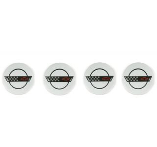 C4 Corvette Factory Wheel Center Caps (1984-1996)