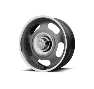 68-82 17x8 American Racing Aluminum Rally Wheel (Grey w/Polished Lip)