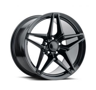 06-13 Z06/GS C7 ZR1 Satin Black Wheel Set (18x9.5/19x12)