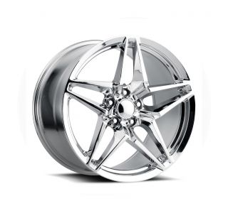 09-13 ZR1/Z06 & 15-19 Z06/GS C7 Style Chrome Wheel Set (19x10/20x12)