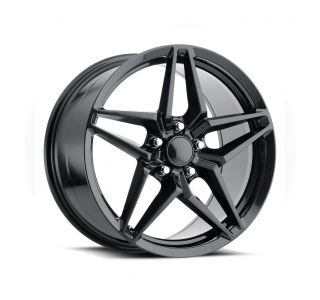 09-13 ZR1/Z06 & 15-19 Z06/GS C7 ZR1 Style Carbon Black Wheel Set (19x10in/20x12in)