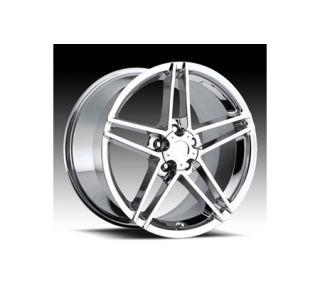 "2006-2013 Corvette Z06 Chrome Wheel Set (18x9.5""/19x12"")"