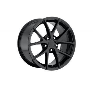 "06-13 Z06 Spyder Gloss Black Wheel Set (18x9.5""/19x12"")"