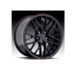 """05-13 """"09 ZR1"""" Black w/Stripe Wheel Set (18x8.5""""/19x10"""")"""