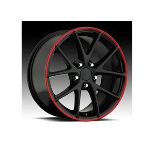 """06-13 Z06 Spyder Gloss Black w/Stripe Wheel Set (18x9.5""""/19x12"""")"""
