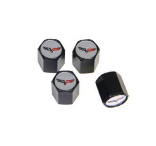 05-13 C6 Emblem Valve Stem Caps (Black) (Default)