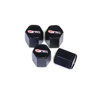 06-13 Z06 Valve Stem Caps (Black) (Default)