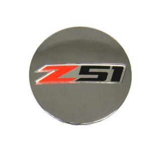 "14-18 ""Z51"" Chrome Wheel Center Cap (Default)"