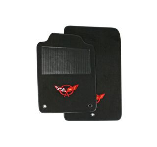 1997-2004 Corvette ACC TruVette Floor Mats w/Embroidered C5 Emblem
