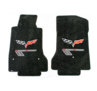 2010-2013ECorvette Lloyd Ultimat Floor Mats w/C6 Emblem & Grand Sport (Red/Silver)