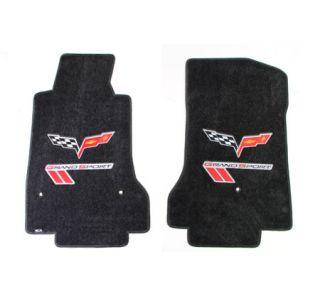 2010-2013E Corvette Lloyd Ultimat Floor Mats w/C6 Emblem & Grand Sport (Red/Black)