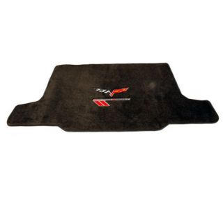 2010-2013 Corvette Lloyd Velourtex Cargo Mat w/C6 Emblem & Grand Sport (Red/Black Emblem)